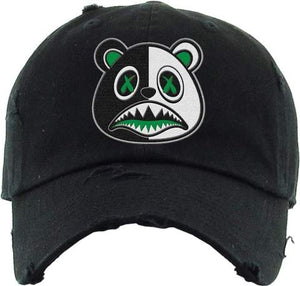 Money Baws Bear Black Green and White Dad Hat