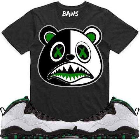 Money Baws Bear Black T-Shirt