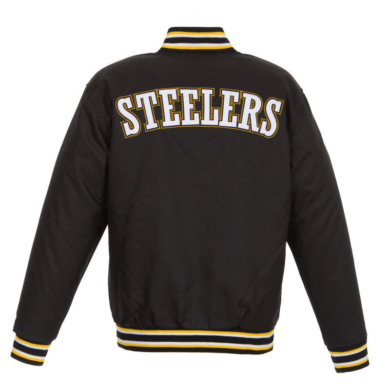 Pittsburgh Steelers Poly-Twill Jacket – Black