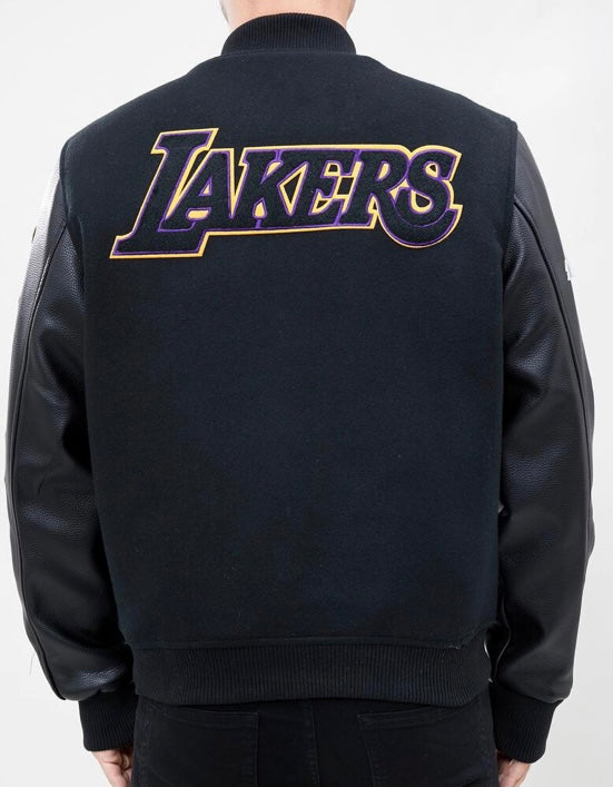 Pro Standard Los Angeles Varsity Jacket - Black on Black