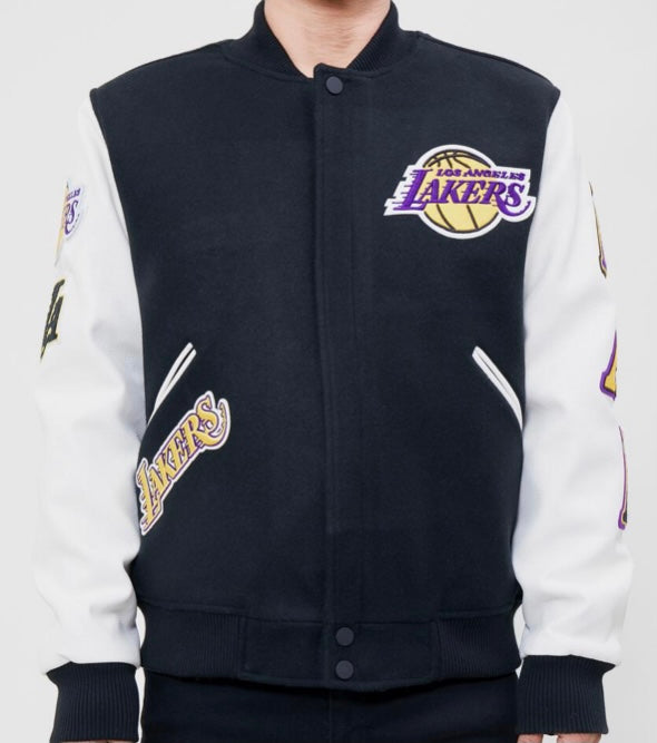 Pro Standard Los Angeles Varsity Jacket - Black and White