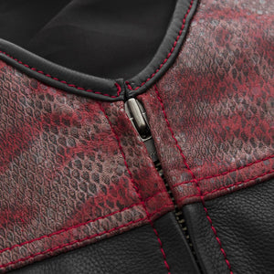Red Racer – Men's Euro Style Leather Vest (Limited Edition)
