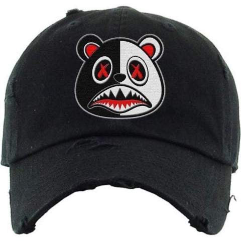 Scarface Baws Bear Black and White Dad Hat
