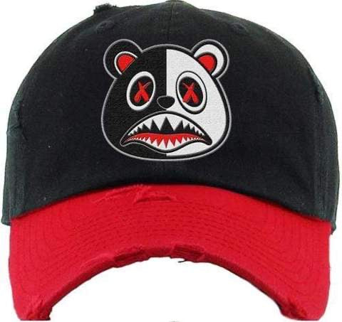 Scarface Baws Bear Black and Red Two Tone Dad Hat