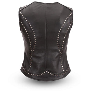 Taylor - Women's Motorcycle Leather Vest