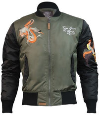 Top Gun® The Flying Legend Japan Bomber Jacket - Military Green and Black