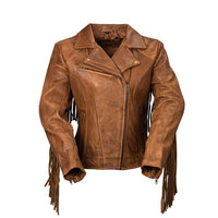 Daisy - Women's Fashion Leather Jacket (Whiskey)