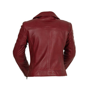 The Betsy - Women's Fashion Leather Jacket (Oxblood)