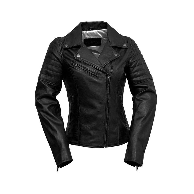 Princess - Women's Fashion Leather Jacket (Black)