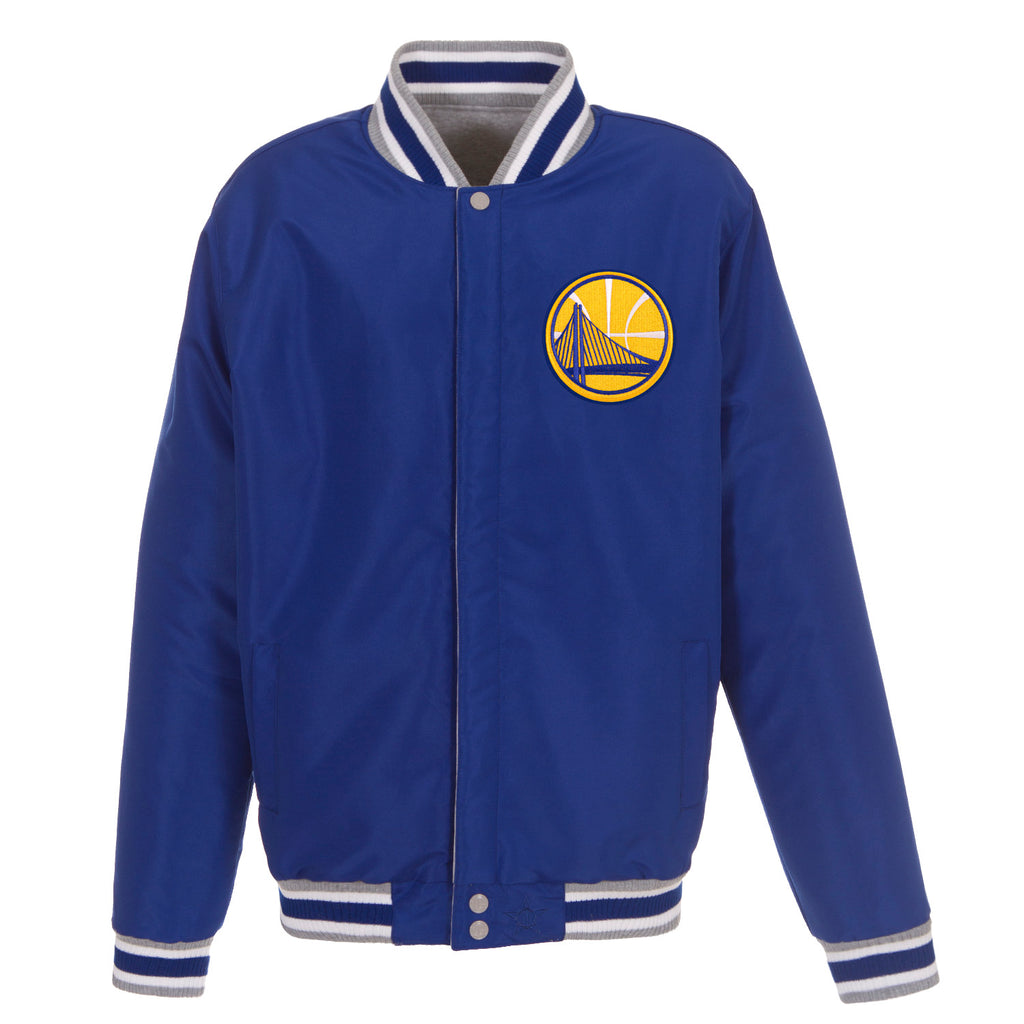 Golden State Reversible Fleece Jacket – Grey and Royal Blue