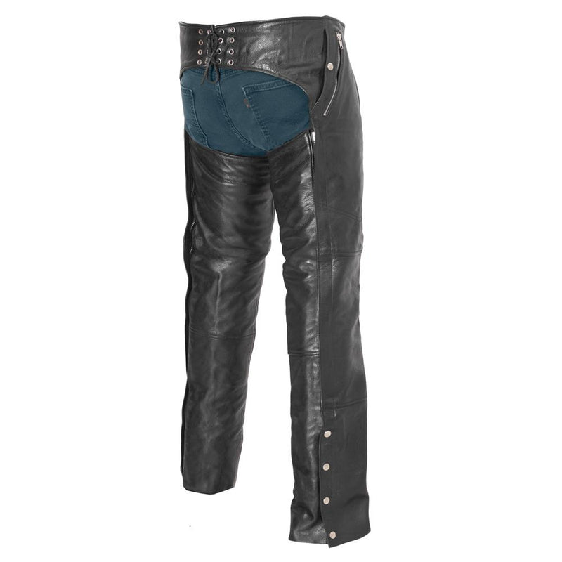 Wind Walker - Unisex Leather Chaps With Gator Skin Snapout Liner