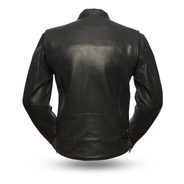 Turbine - Men's Motorcycle Perforated Leather Jacket
