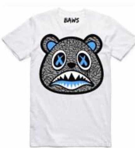 Men's Scarface UNC Baws Bear White T-Shirt