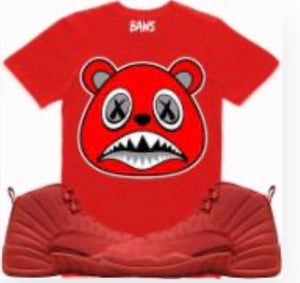 Angry Baws Bear Red T-Shirt