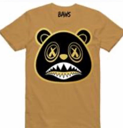 Black Out Baws Bear Gold Metallic T-Shirt
