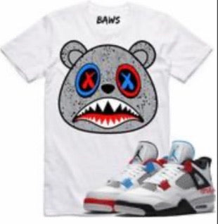Cement Baws Bear Cement White T-Shirt