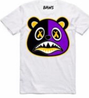Los Angeles Baws Bear White Yellow T-Shirt