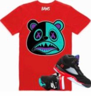 Aqua Baws Bear Red T-Shirt