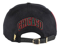 Chicago Bulls Pro Standard Strap Back Cap - Black/Red/Green