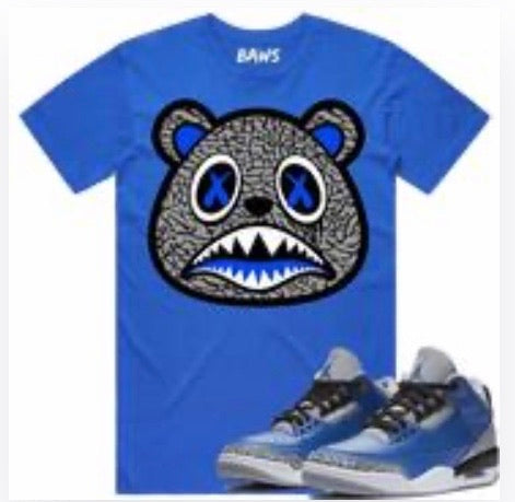 Elephant Baws Bear Royal T-Shirt