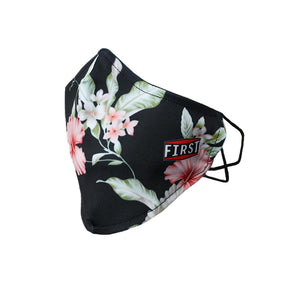 The 2-Ply Black/Pink Flower Reusable Non-Medical Breathable & Elastic Ear Bands Face Masks (5-Pcs Pack)