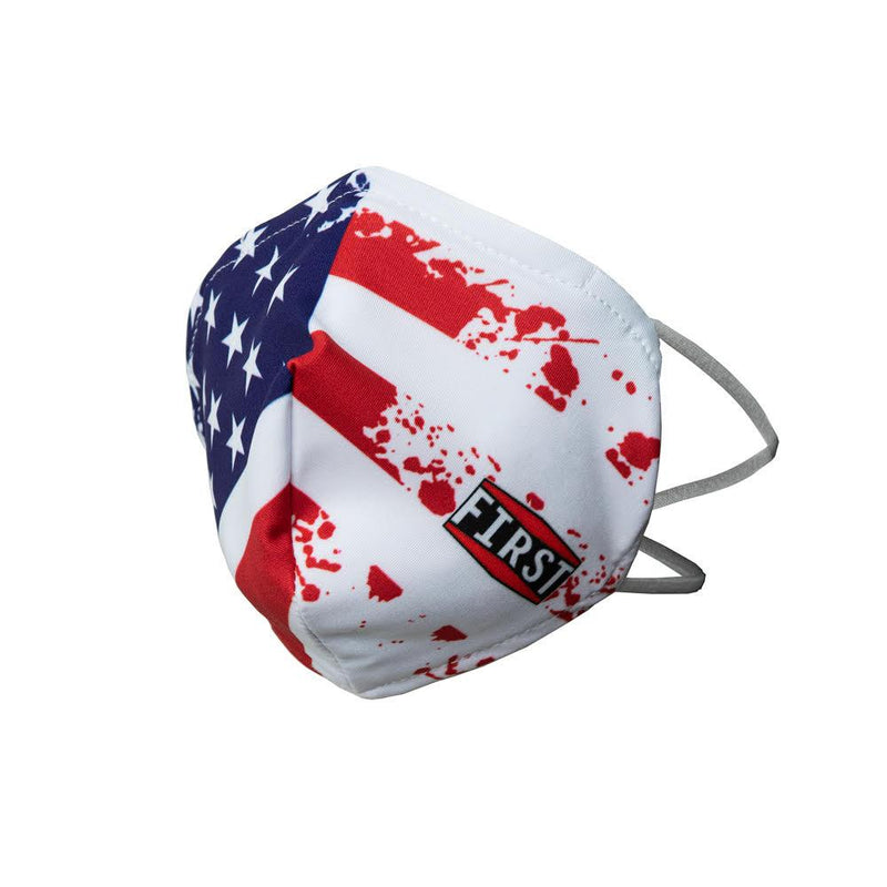 Distressed USA Flag Face Mask (5pcs pack)
