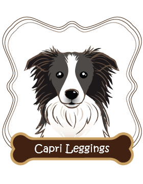 Border Collie Capri Leggings