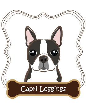 Boston Terrier Capri Leggings