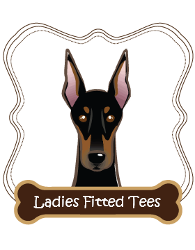 Doberman Ladies Fitted Tees