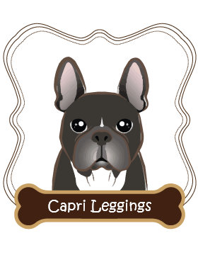 French Bulldog Capri Leggings