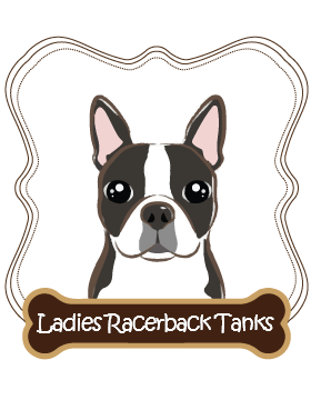 Boston Terrier Ladies Racerback Tanks