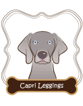 Weimaraner Capri Leggings