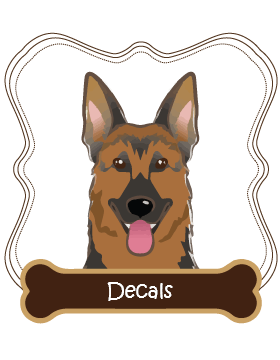 German Shepherd Decals