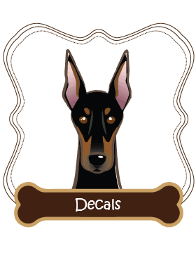 Doberman Pinscher Decals