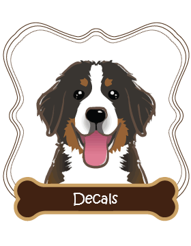 Bernese Mountain Dog Decals