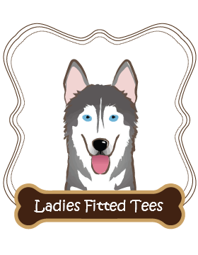 Siberian Husky Ladies Fitted Tees