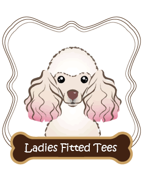 Poodle Ladies Fitted Tees