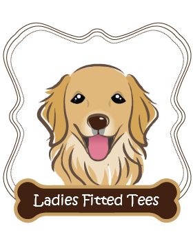 Golden Retriever Ladies Fitted Tees