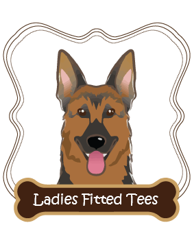 German Shepherd Ladies Fitted Tees