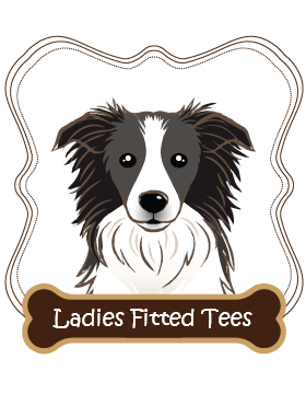 Border Collie Ladies Fitted Tees