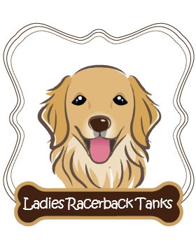 Golden Retriever Ladies Racerback Tanks
