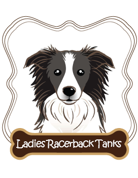 Border Collie Ladies Racerback Tanks