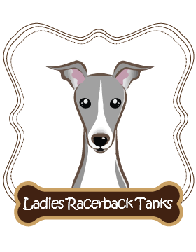 Italian Greyhound Ladies Racerback Tanks