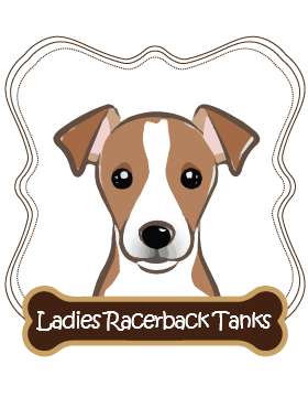 Jack Russell Ladies Racerback Tanks