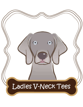 Weimaraner Ladies V-Neck Tees