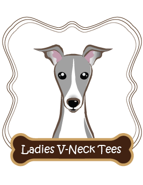 Italian Greyhound Ladies V-Neck Tees