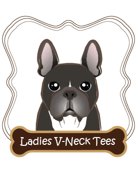 French Bulldog Ladies V-Neck Tees
