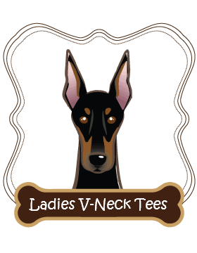 Doberman Ladies V-Neck Tees