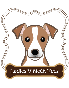 Jack Russell Ladies V-Neck Tees