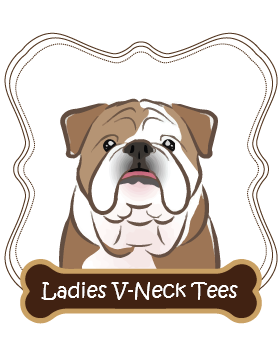 Bulldog Ladies V-Neck Tees